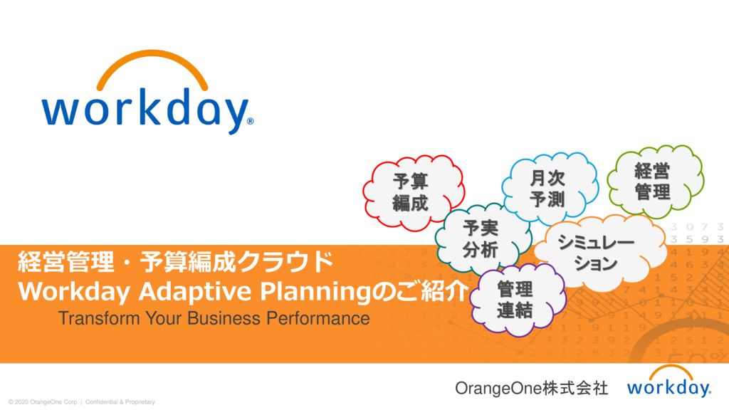 Workday Adaptive Planningの資料