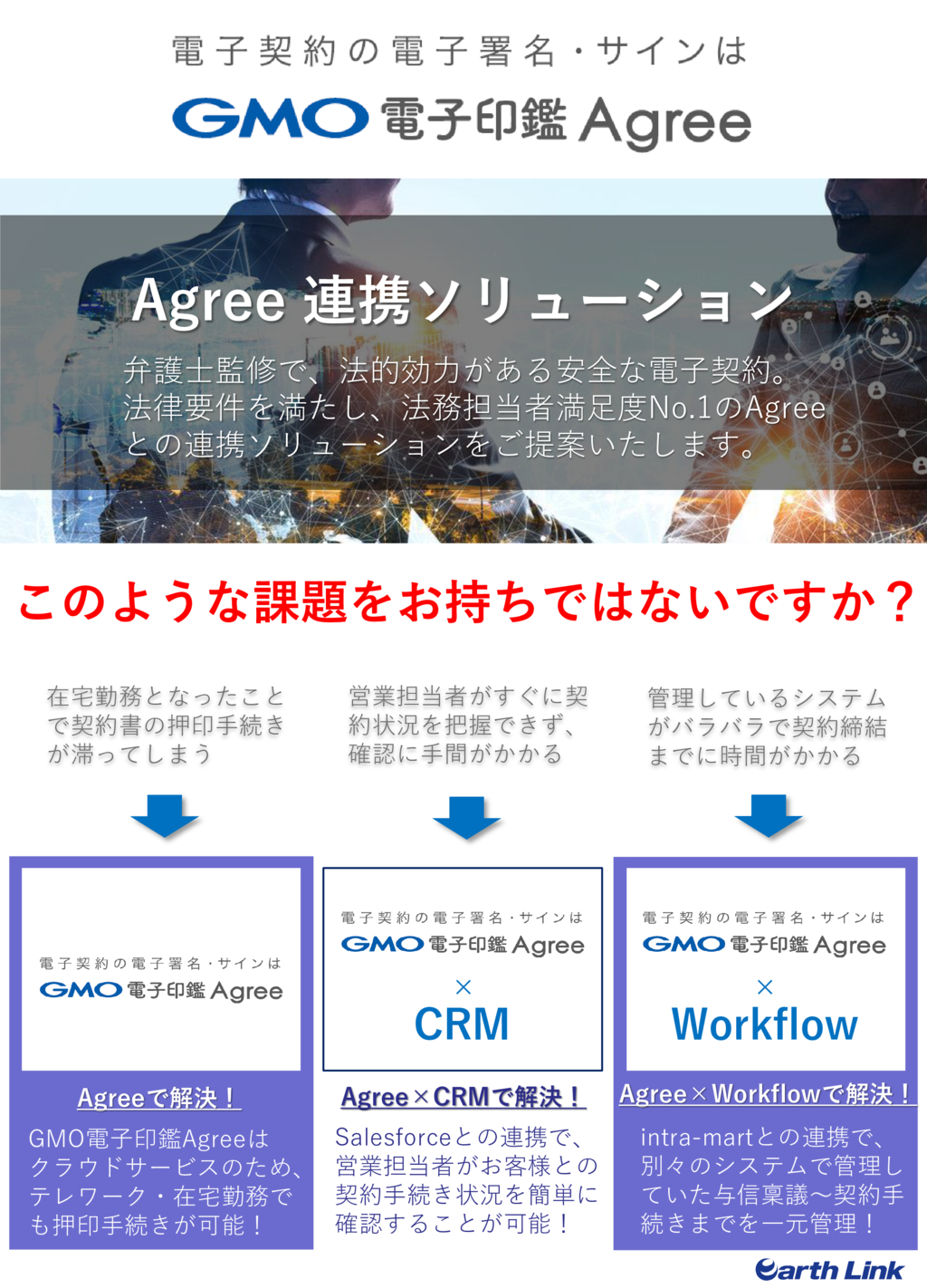 【BOXILEXPO】株式会社アースリンク_CRM×電子印鑑の資料