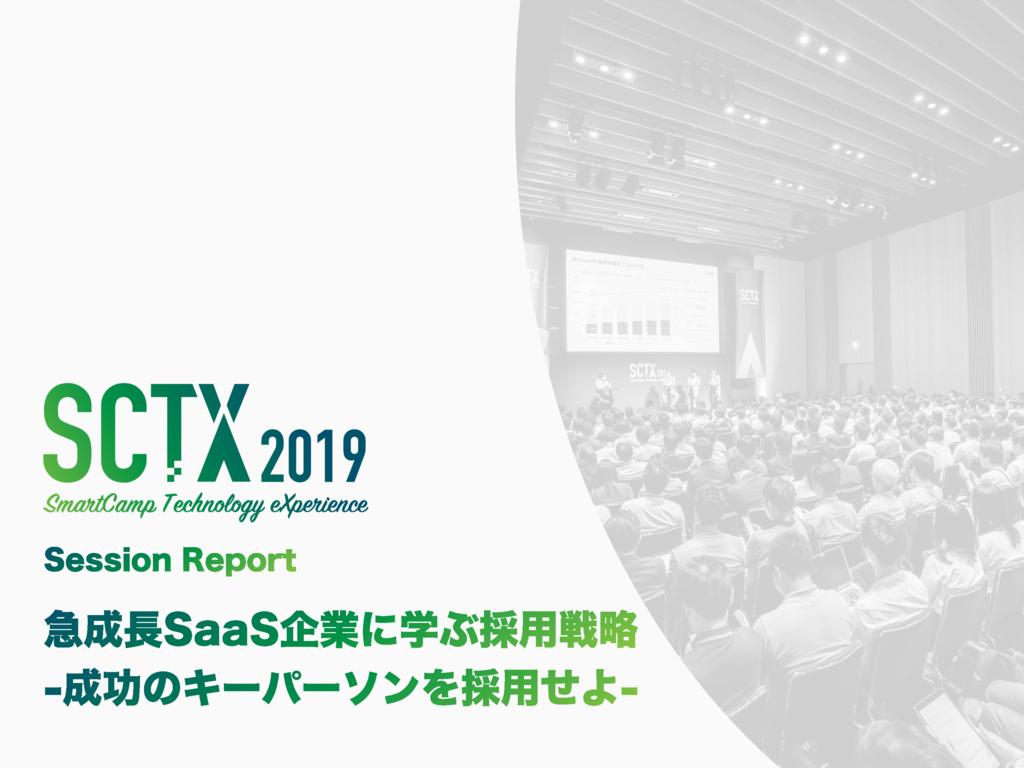 HRMOS(ハーモス)採用(SCTX 2019 Session Report)の資料