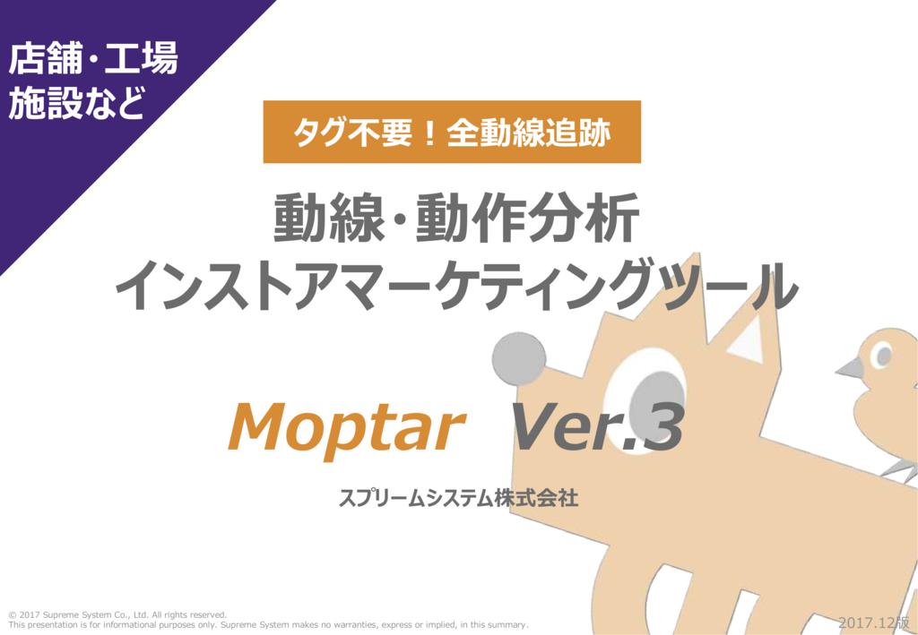 動線・動作分析 Moptar(モプター)の資料