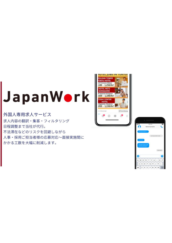 外国人専用求人サービスJapanWorkの資料