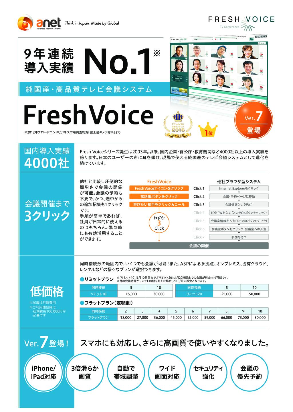 テレビ会議システム FreshVoice(フレッシュボイス)の資料