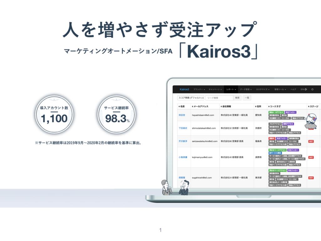Kairos3の資料