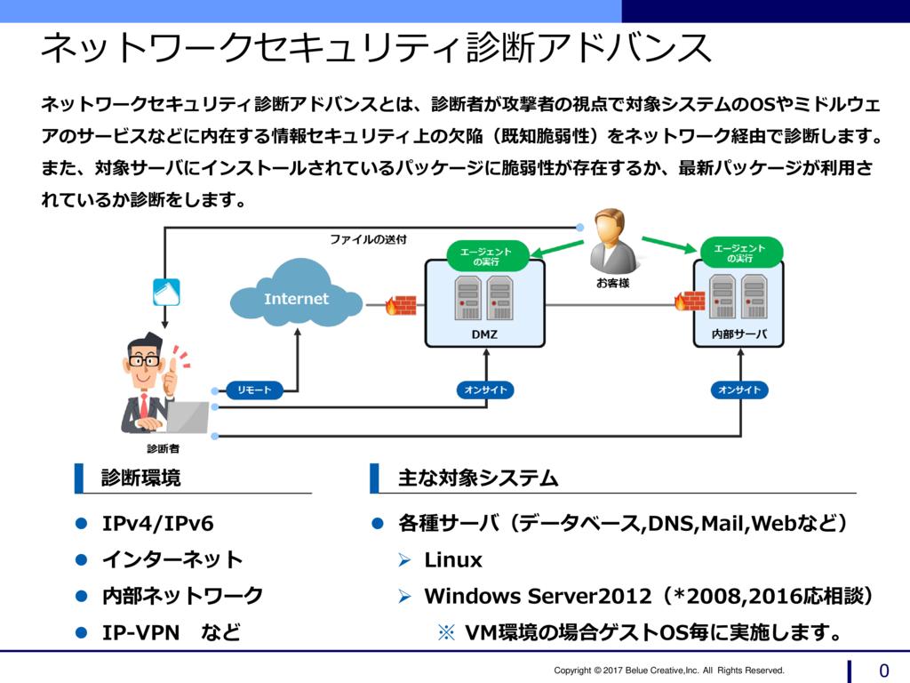 ネットワークセキュリティ診断アドバンスサービスの資料