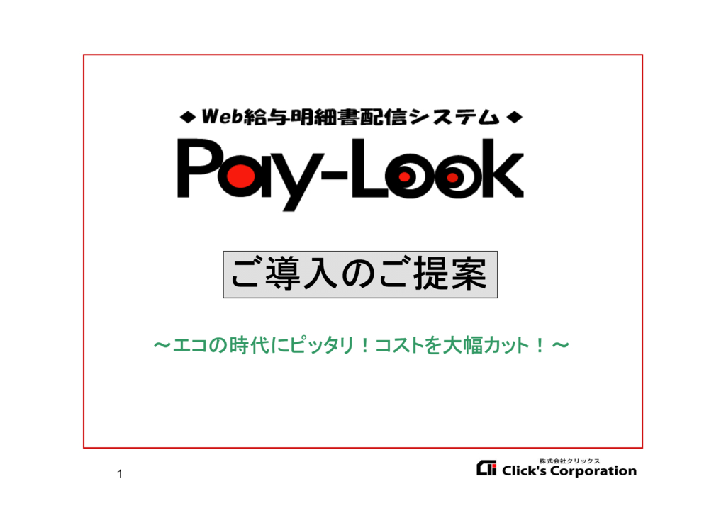 Pay-Look(ペイルック)の資料