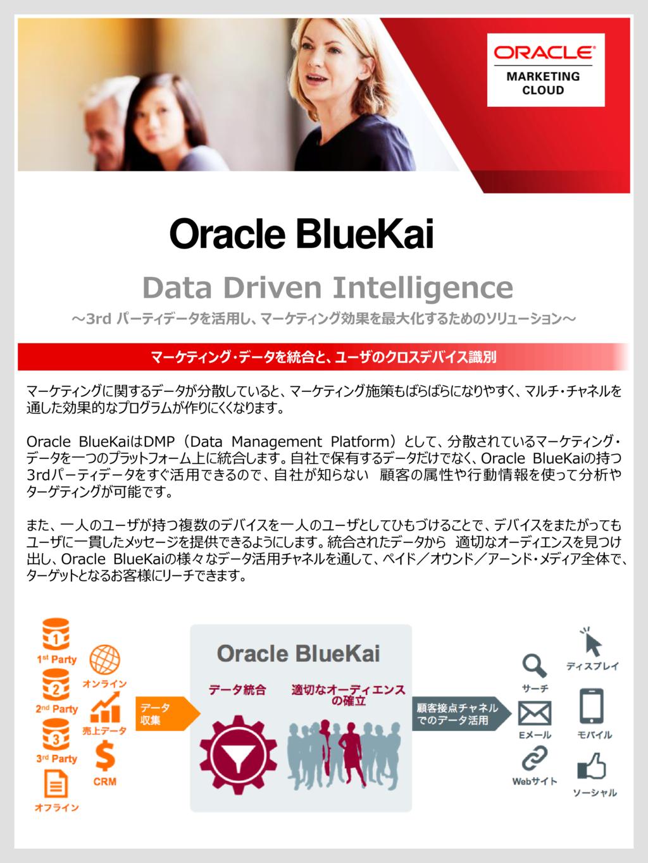 統合したDMPの活用を最適化 Oracle BlueKaiの資料
