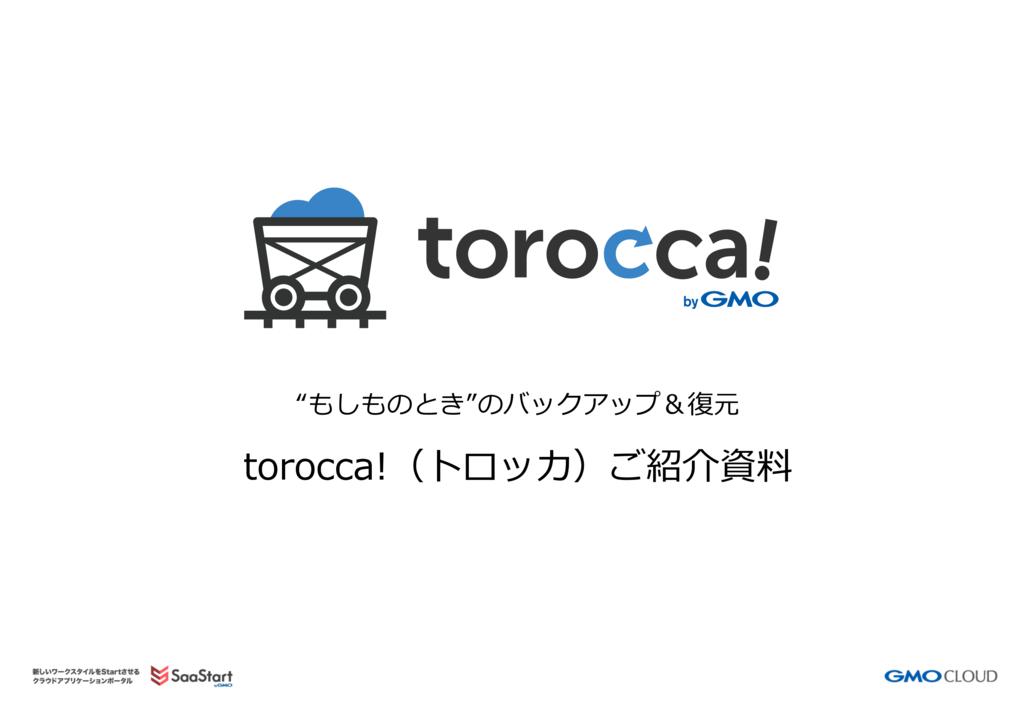 torocca!(トロッカ)の資料