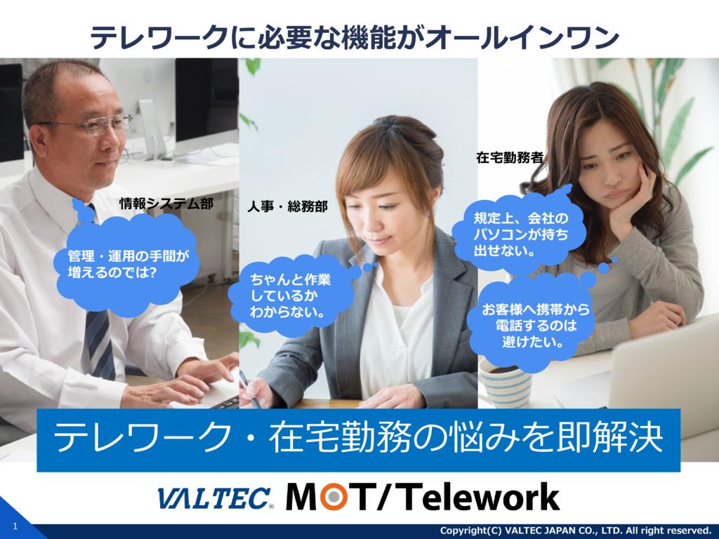 MOTテレワーク・在宅勤務システムの資料