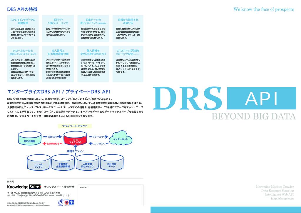 DRS API-マッシュアップクローラー-0
