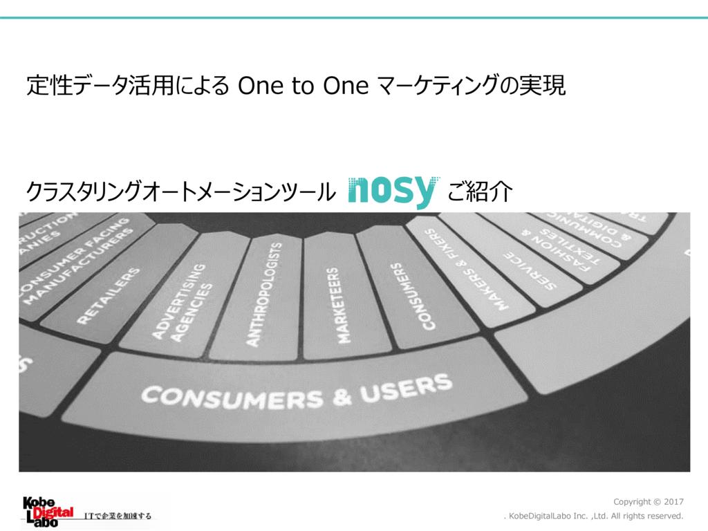 クラスタリングオートメーションツール「nosy(ノージー)」の資料