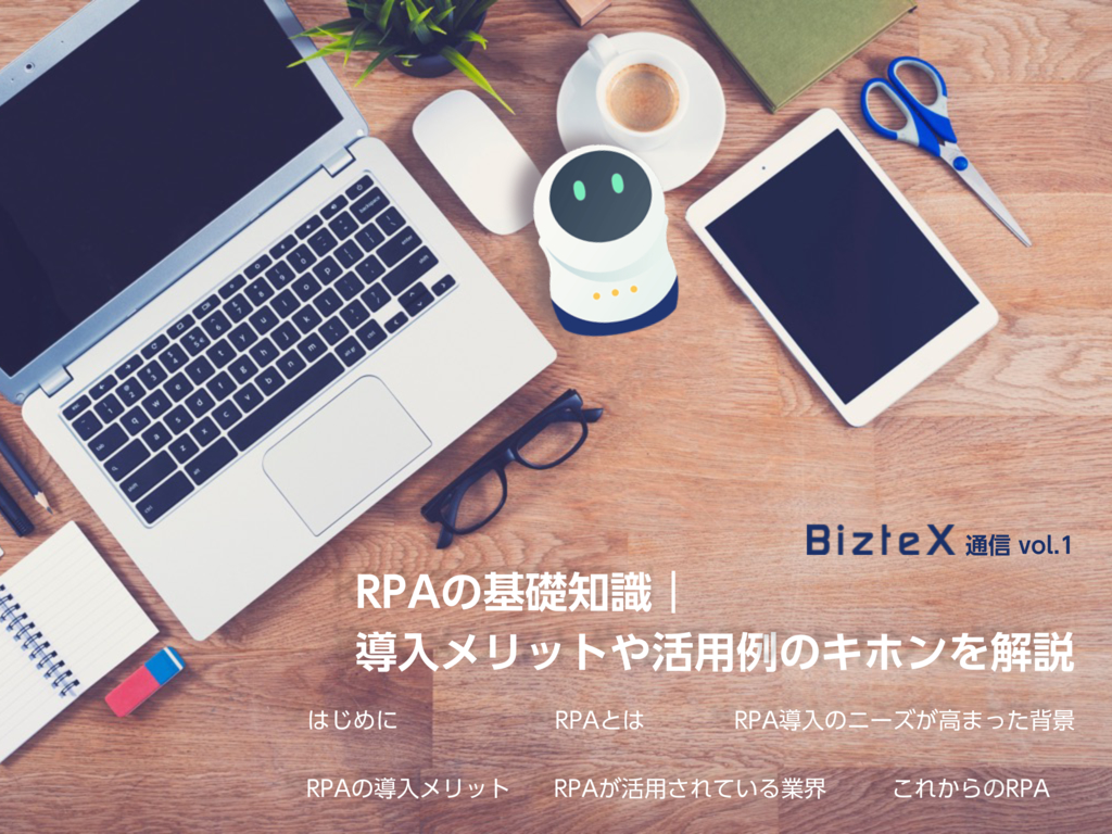 クラウドRPA「BizteX cobit」の資料
