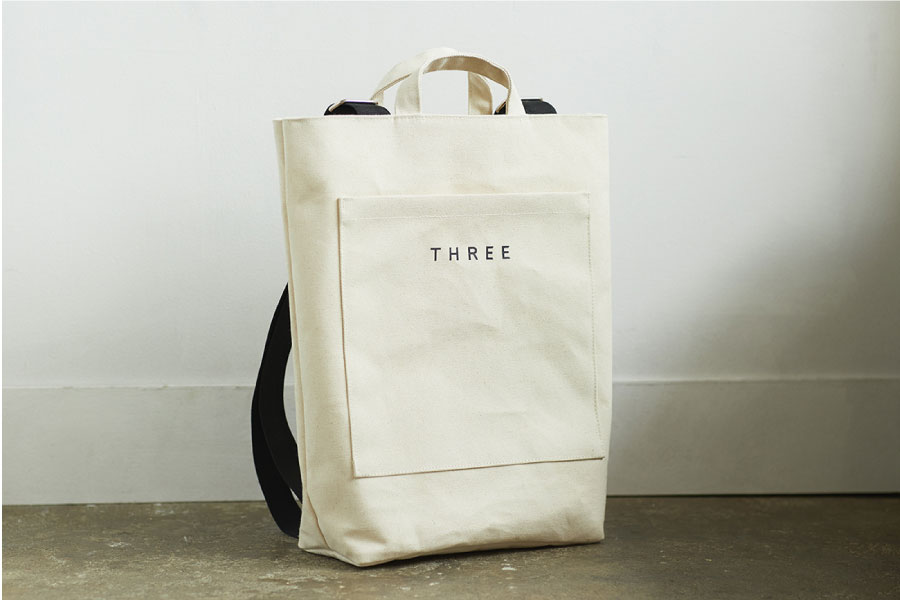 〈GIFT PROMOTION〉THREE オリジナル スワッグ バッグ