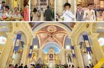Cubao Cathedral wedding photos small 1/2