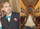 Cubao Cathedral wedding photos small 0/3