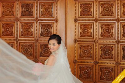 Cubao Cathedral wedding photos small 1/1