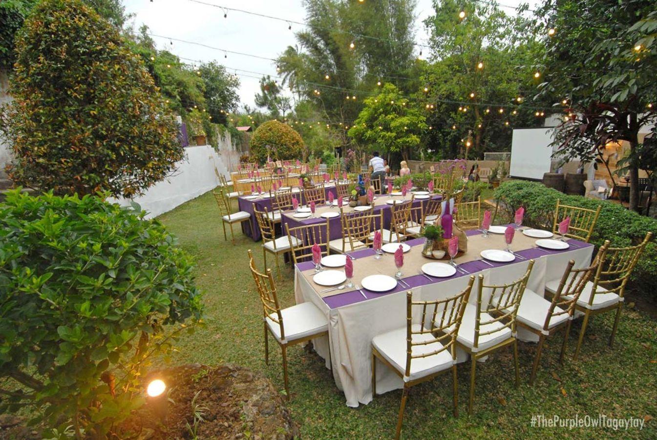 Garden gazebo silang wedding rates - The Purple Owl In Tagaytay City Cavite
