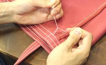 縫い止まりの処理