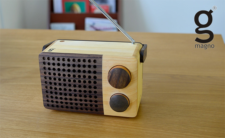 木製ラジオ「IKoNO++(イコノ)」