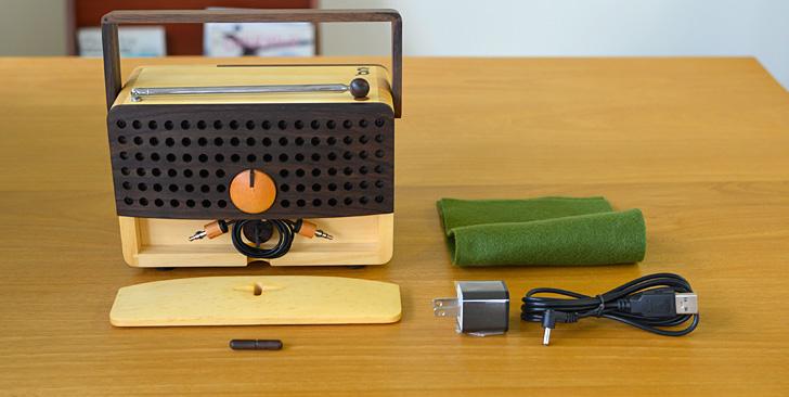 木製ラジオ「IKoNO++(イコノ)」セット内容