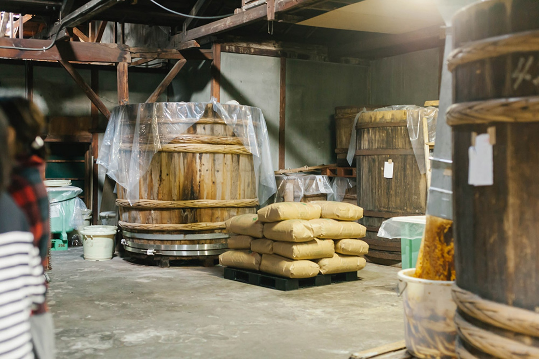 お味噌を作っている工場。昔はここでお醤油も作っていたんだそう。