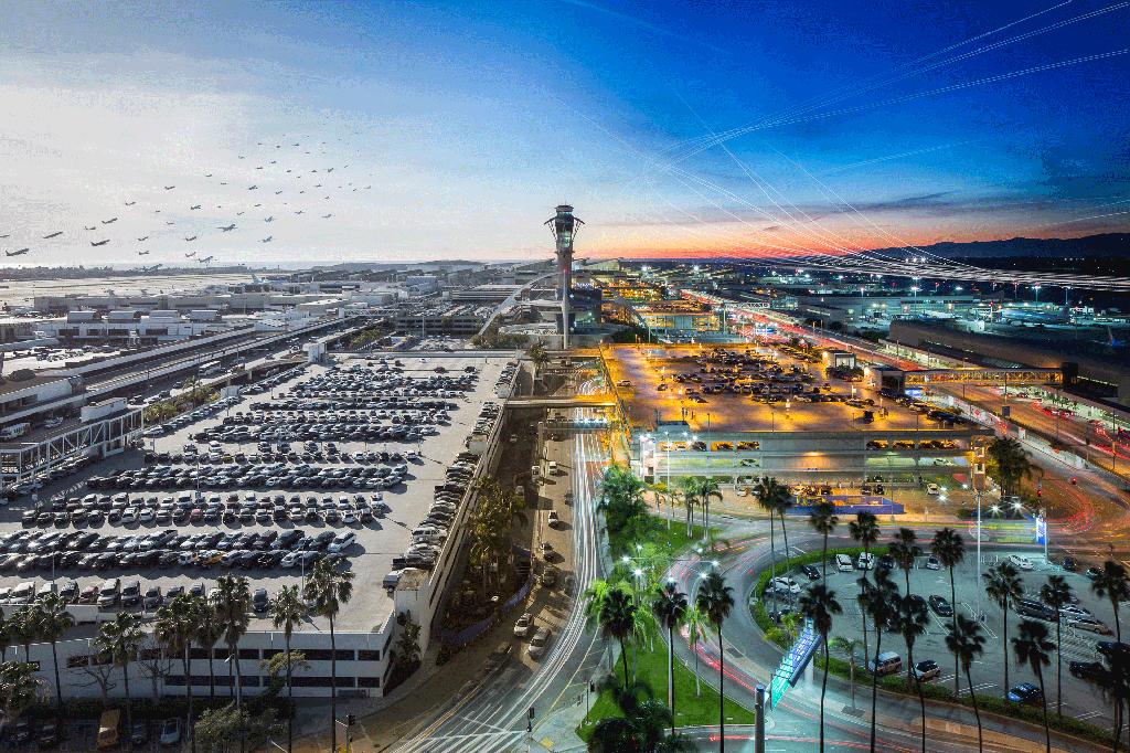 洛杉磯機場全景圖