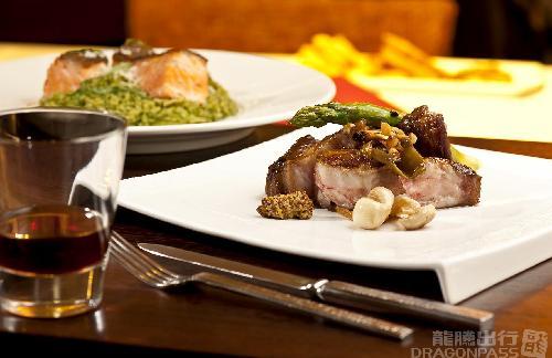 龍騰套餐:桃園機場 Bistro :D 畢卓樂地餐廳的牛排好威