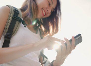 WiFi分享器:女性使用手機連線網路暢行無阻