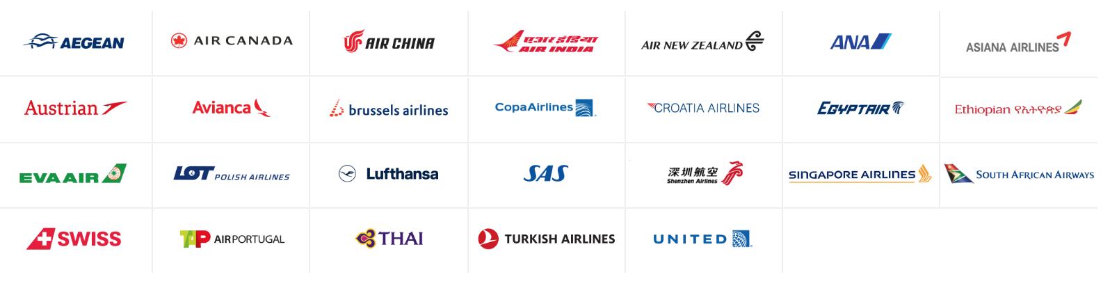 飛行常客計劃:星空聯盟旗下的航空公司總覽