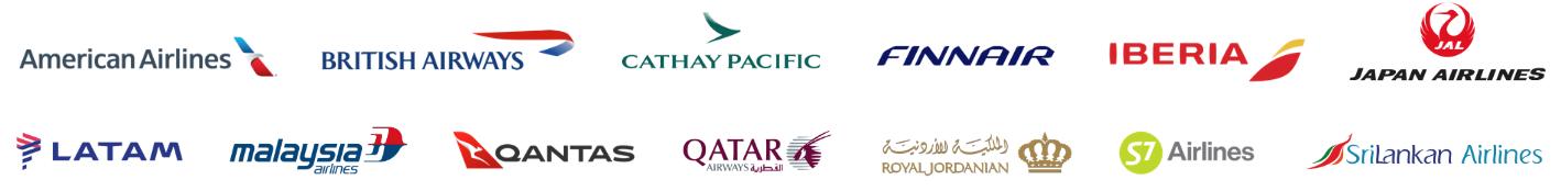 飛行常客計劃:寰宇一家聯盟旗下的航空公司