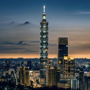 台灣台北101大樓夜景