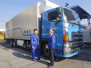 大畑運輸株式会社/中型、大型車ドライバー/平均月給35万円超/食品原料・加工食品の配送がメインです