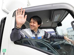 株式会社ユービーエム(ウエダグループ)/大手コンビニへのルート配送ドライバー(3t)/完全週休2日制