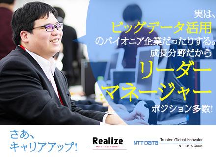 株式会社リアライズ【NTTデータグループ】/データマネジメントプロジェクトリーダー*注目の働きやすさ*男女活躍*データマネジメントの先駆け