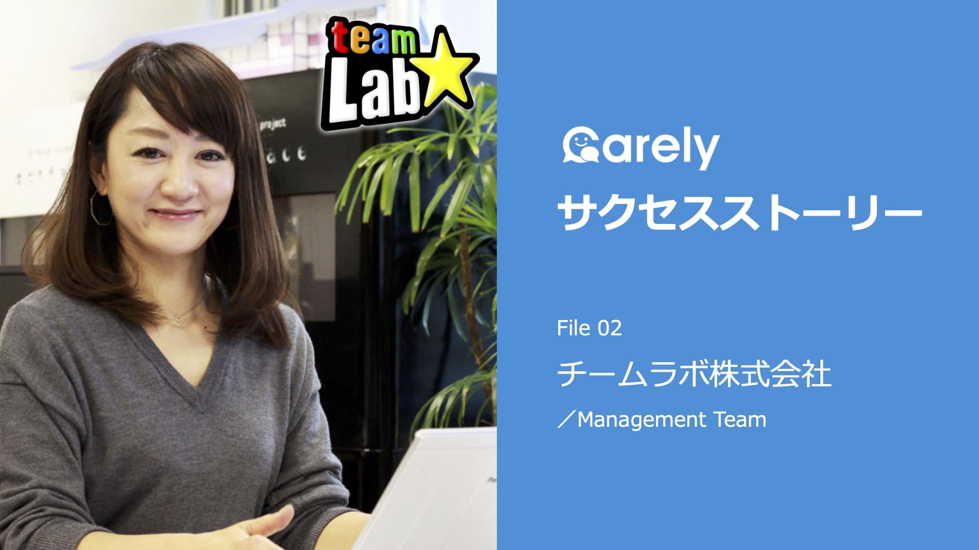 Carelyサクセスストーリー ~チームラボ株式会社~のサムネイル