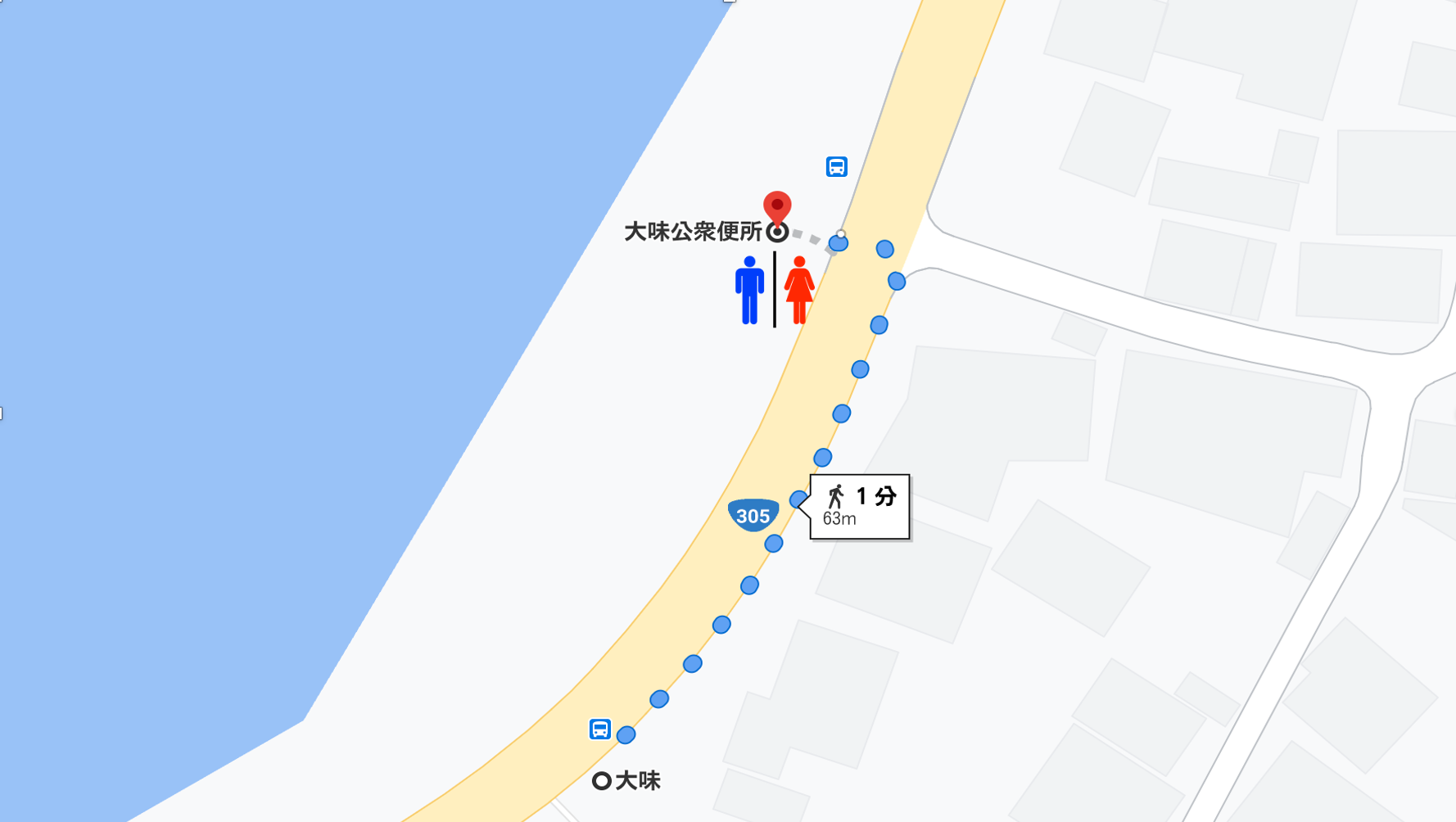 location of restroom from this station