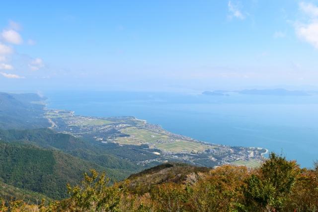 びわ湖バレイから見た琵琶湖の眺め