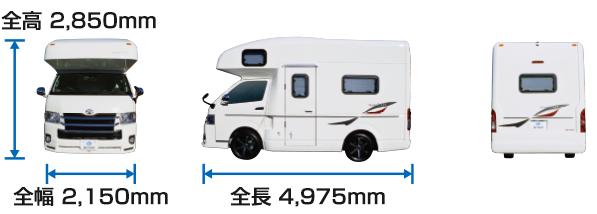 全長5m未満のため一般駐車場にも入るサイズです