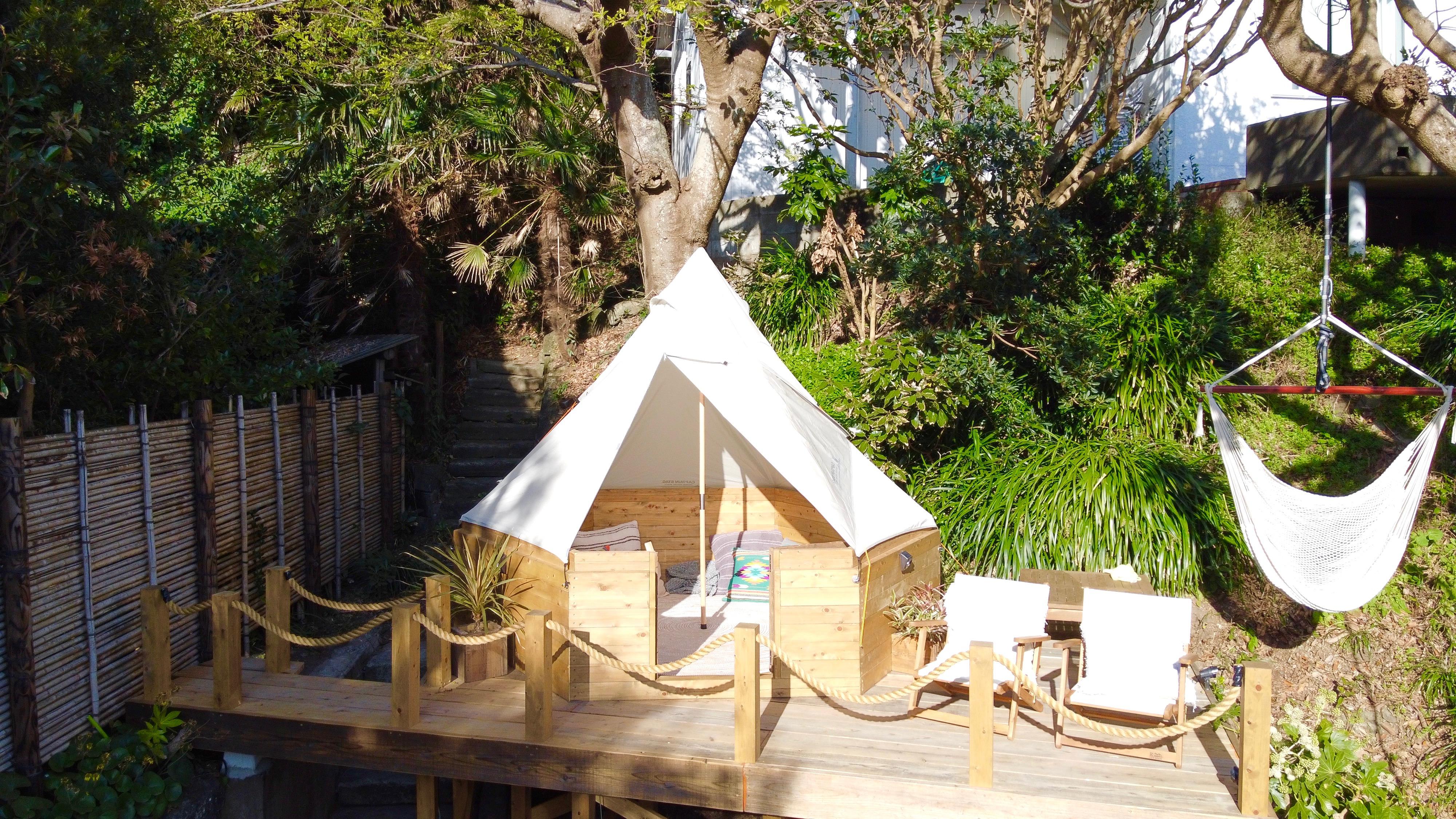 常設テントはご利用の方に限り通常の料金の半額でご利用頂けます。(HPに通常料金等記載がございます)