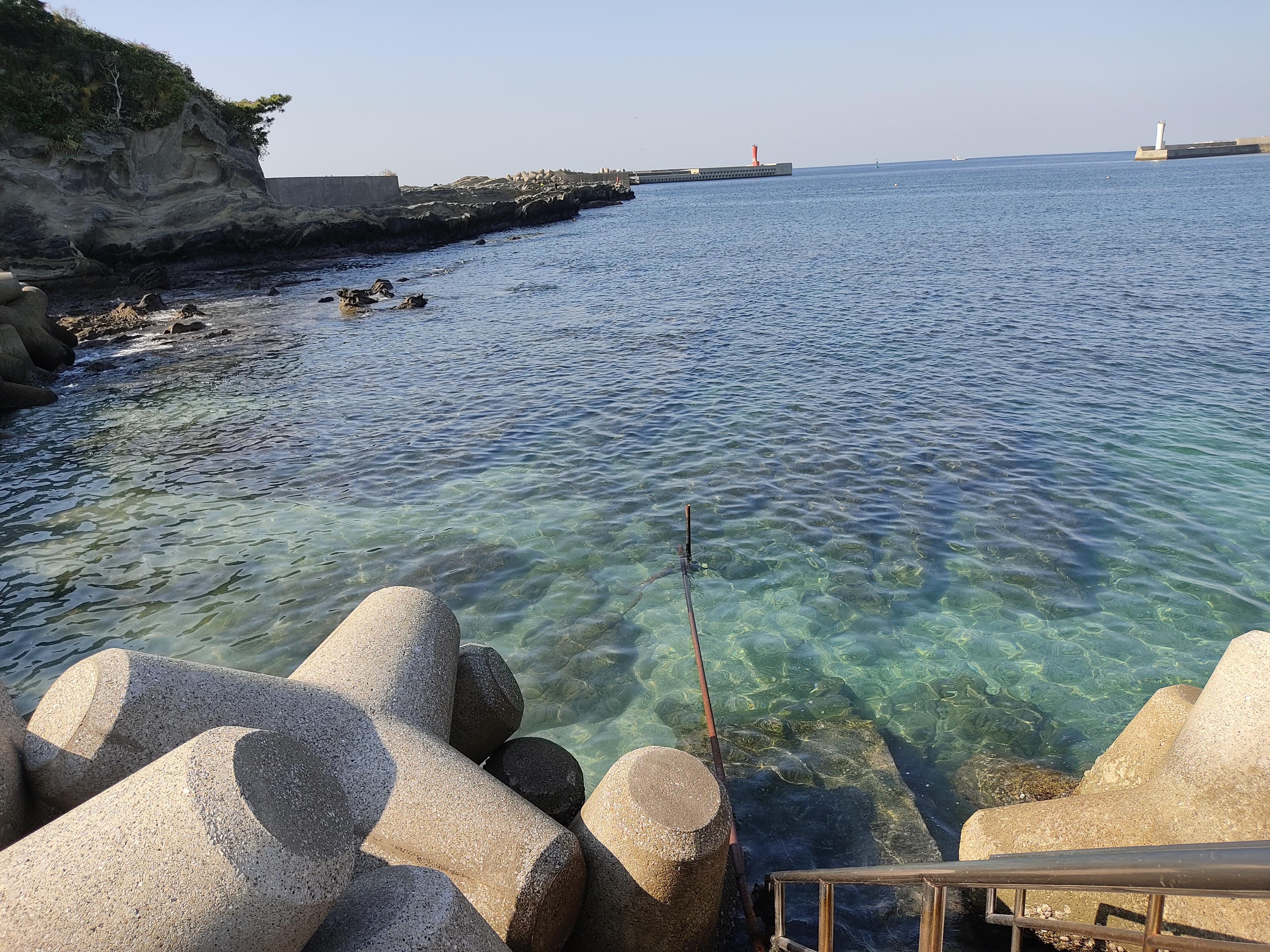 城ヶ島の海はかなり透き通ってます、ダイビングも多く行われてます