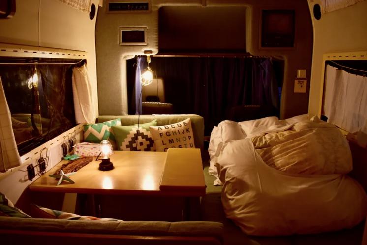 キャンピングカー宿泊が楽しい!車中泊で狭い場合に!当社キャンピングカー利用7800円/1泊1台。大人2人+子供2名ぐらいまで宿泊できます。テント泊も出来ます!(事前予約、現地精算)