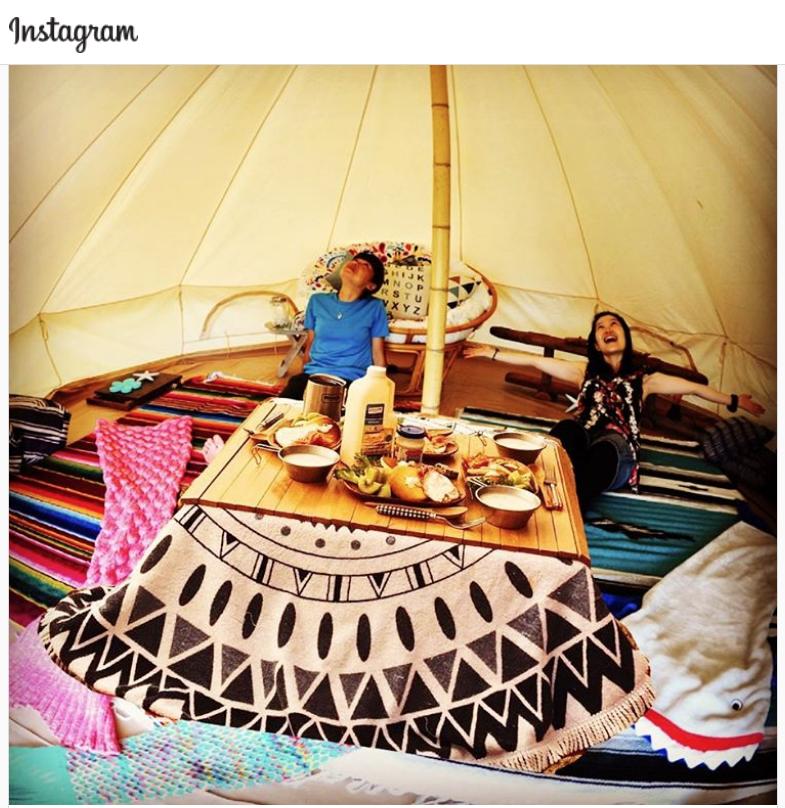 【1日限定1組】テントでこたつスタート!手ぶらマイカーでこのグランピング テントに泊まることも出来ます^^)ご相談ください!(定員5名、事前予約が必要)