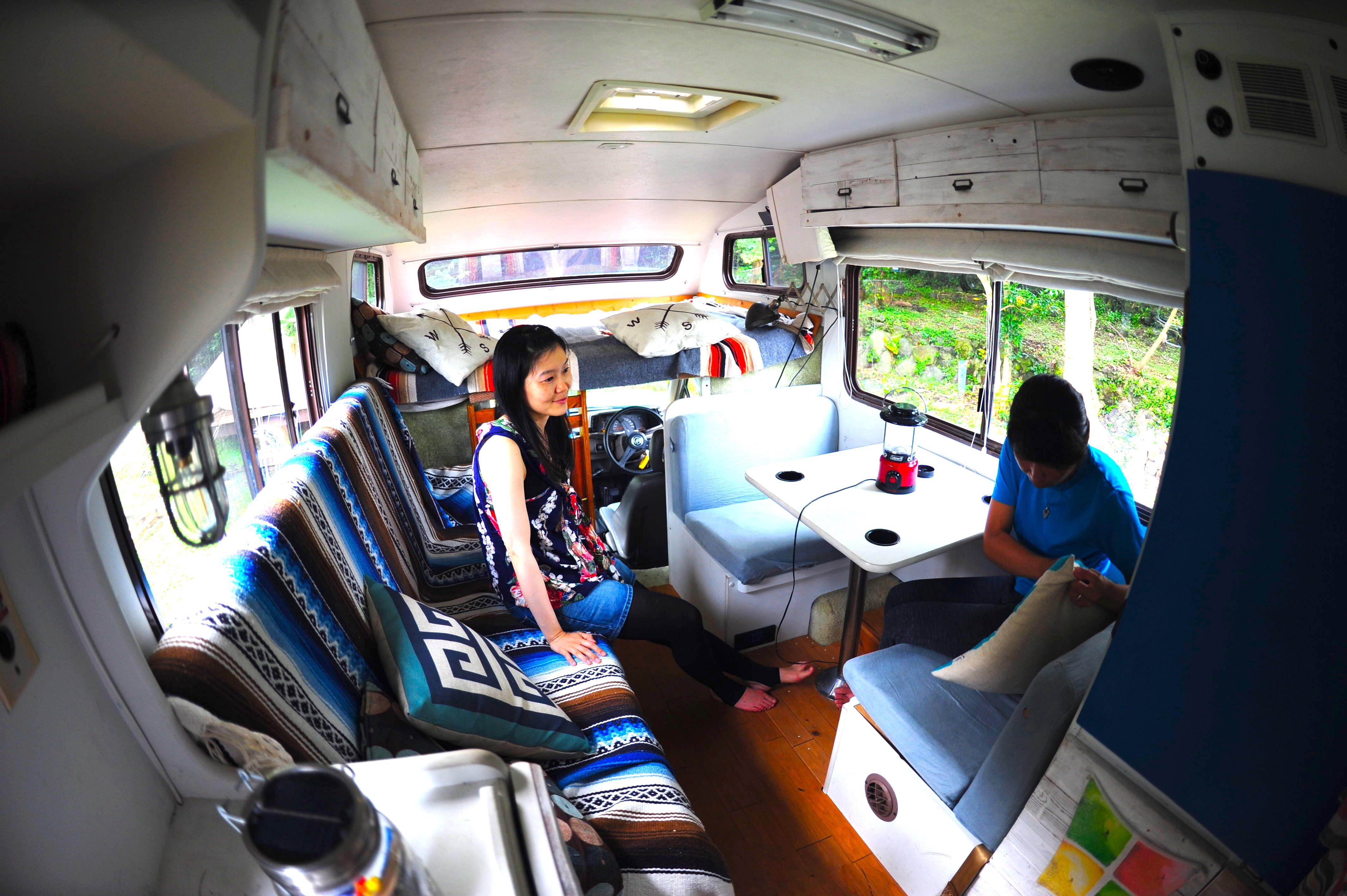 【1日限定1組】キャンピングカー宿泊出来ます!大人2名さま+子供2名さまぐらいまで宿泊できます。(事前予約が必要です)車内でお料理はできません。