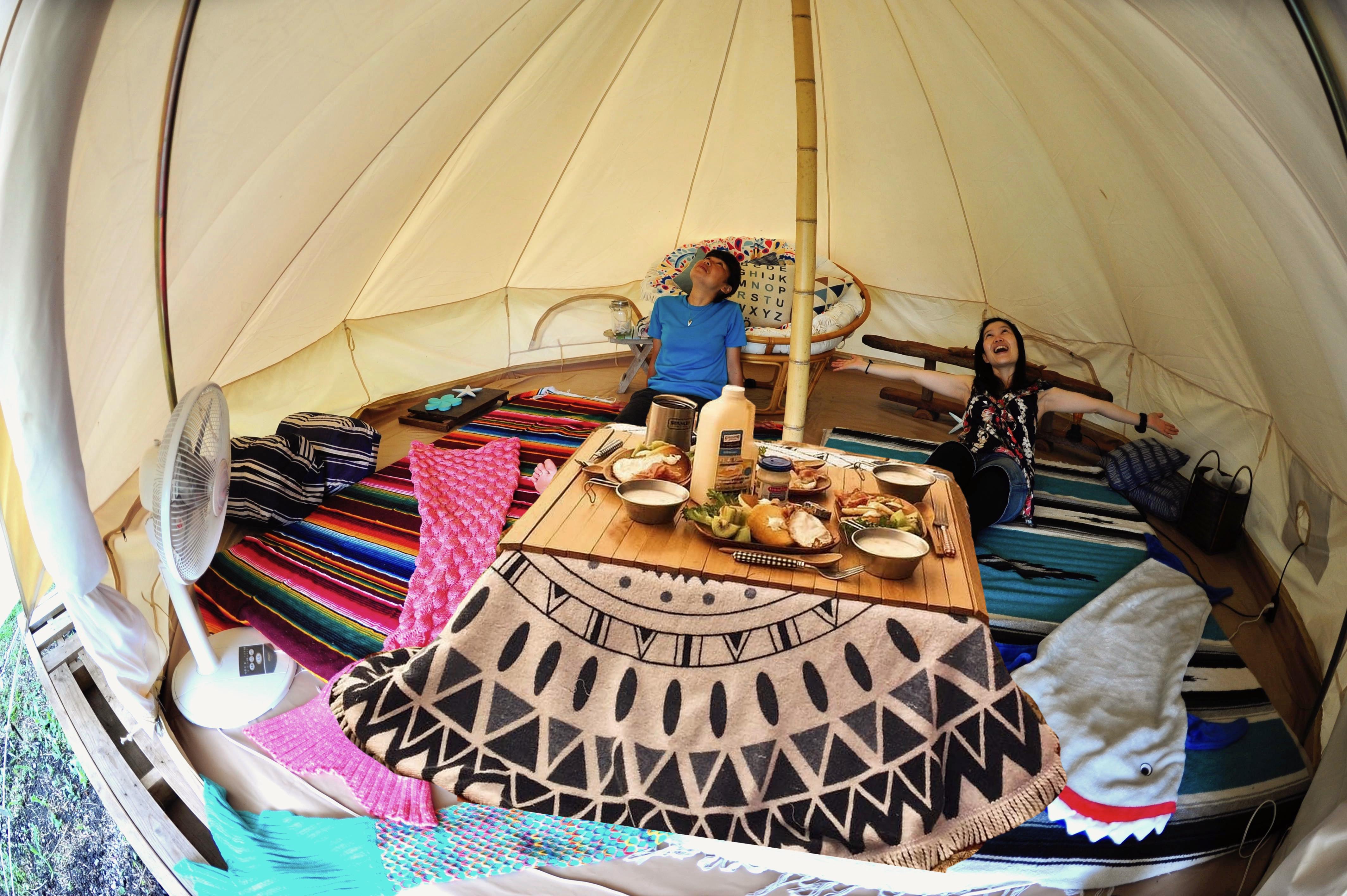 レンタルテント「テントでこたつ」ただいま準備中!手ぶらマイカーでこのレンタルテントに泊れます!