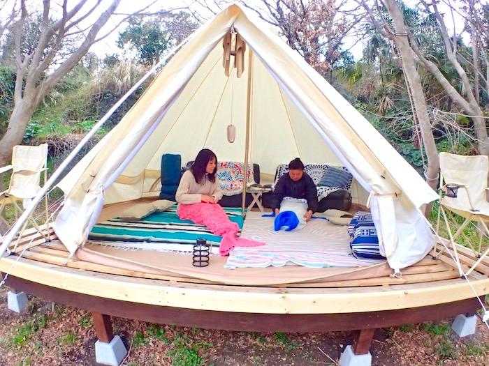 レンタルテント「テントでこたつ」手ぶらマイカーでこのレンタルテントに泊れます!