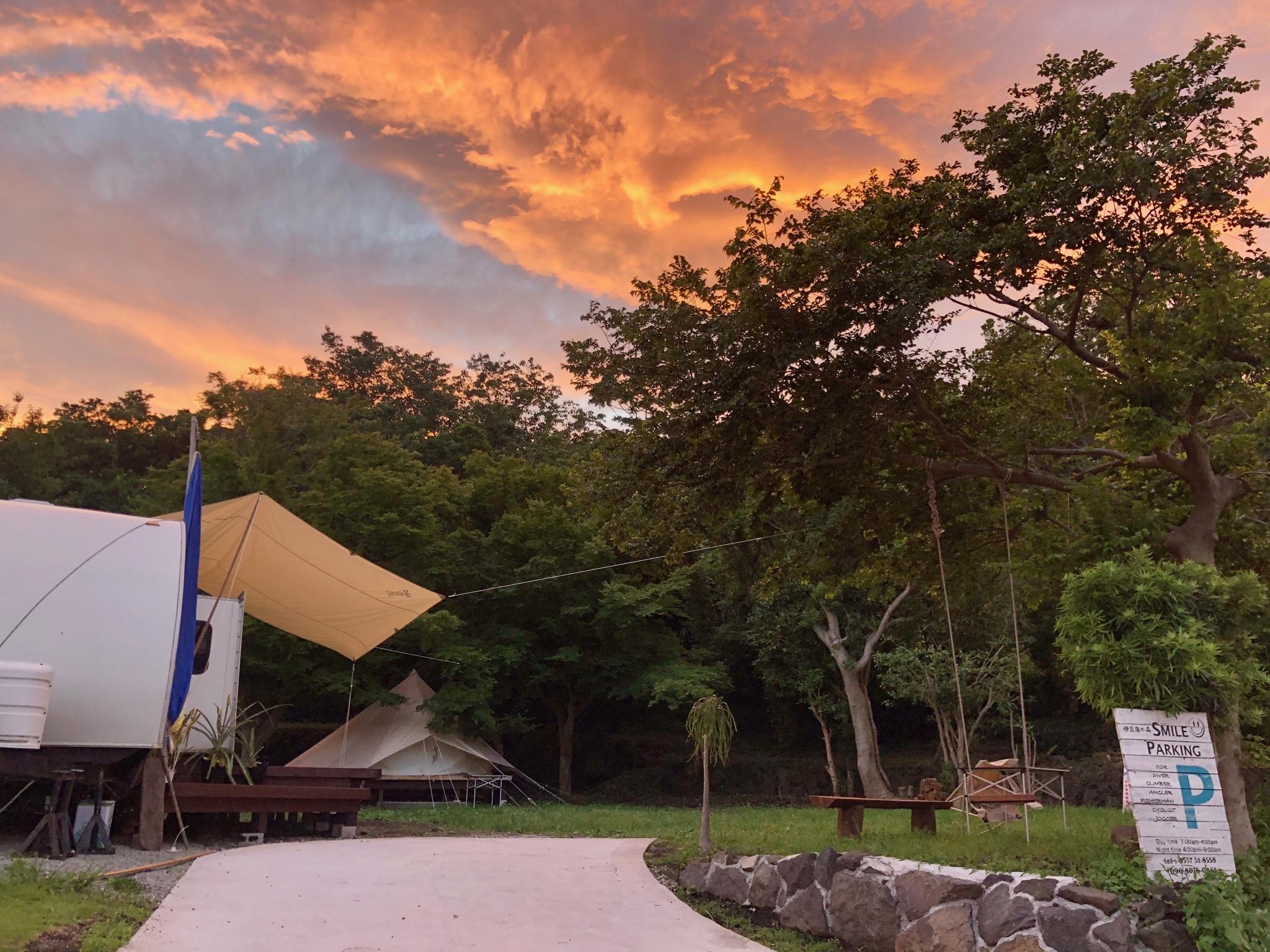 夕暮れのスマイルキャンプ場☺︎