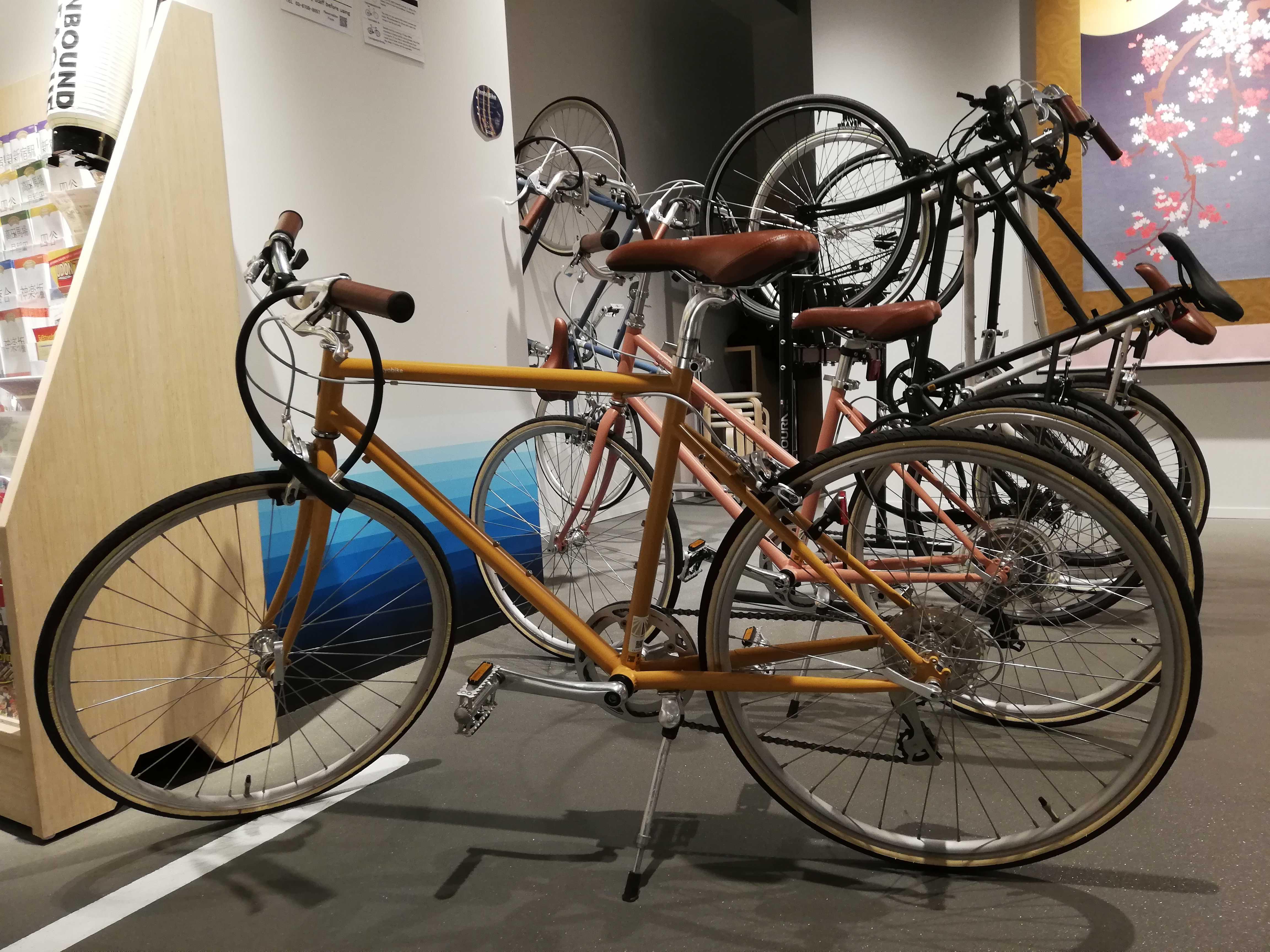 3種類の自転車が2台ずつあり、当日お選びいただけます。