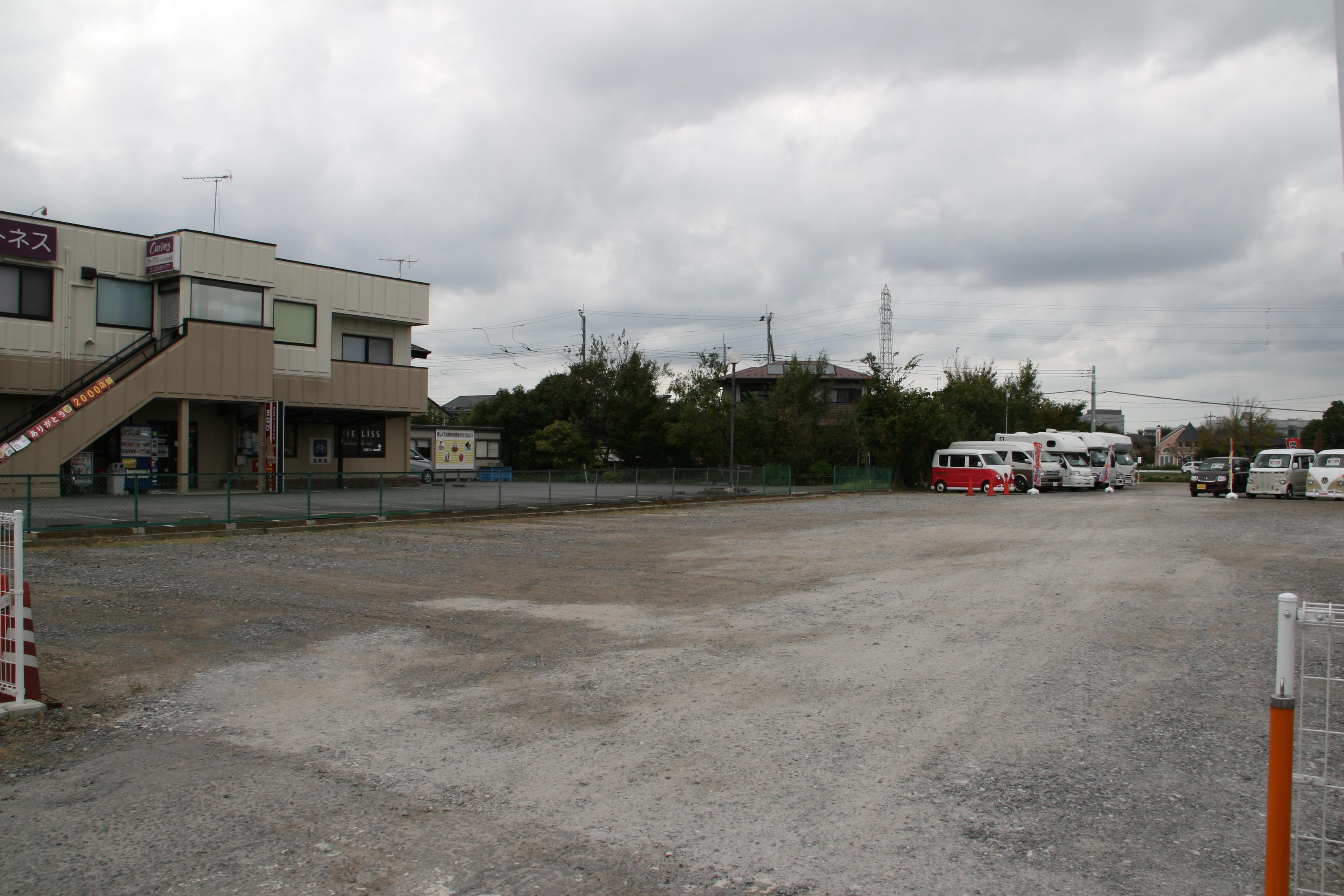 お車30台は停められる駐車場です。