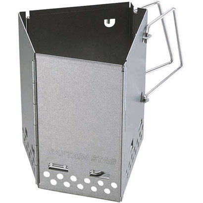 (貸出備品)CAPTAIN STAG BBQ用 燻製器 アドバンス折りたたみスモーカー