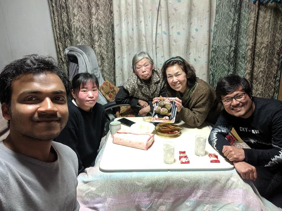 Dinner in takeda's house