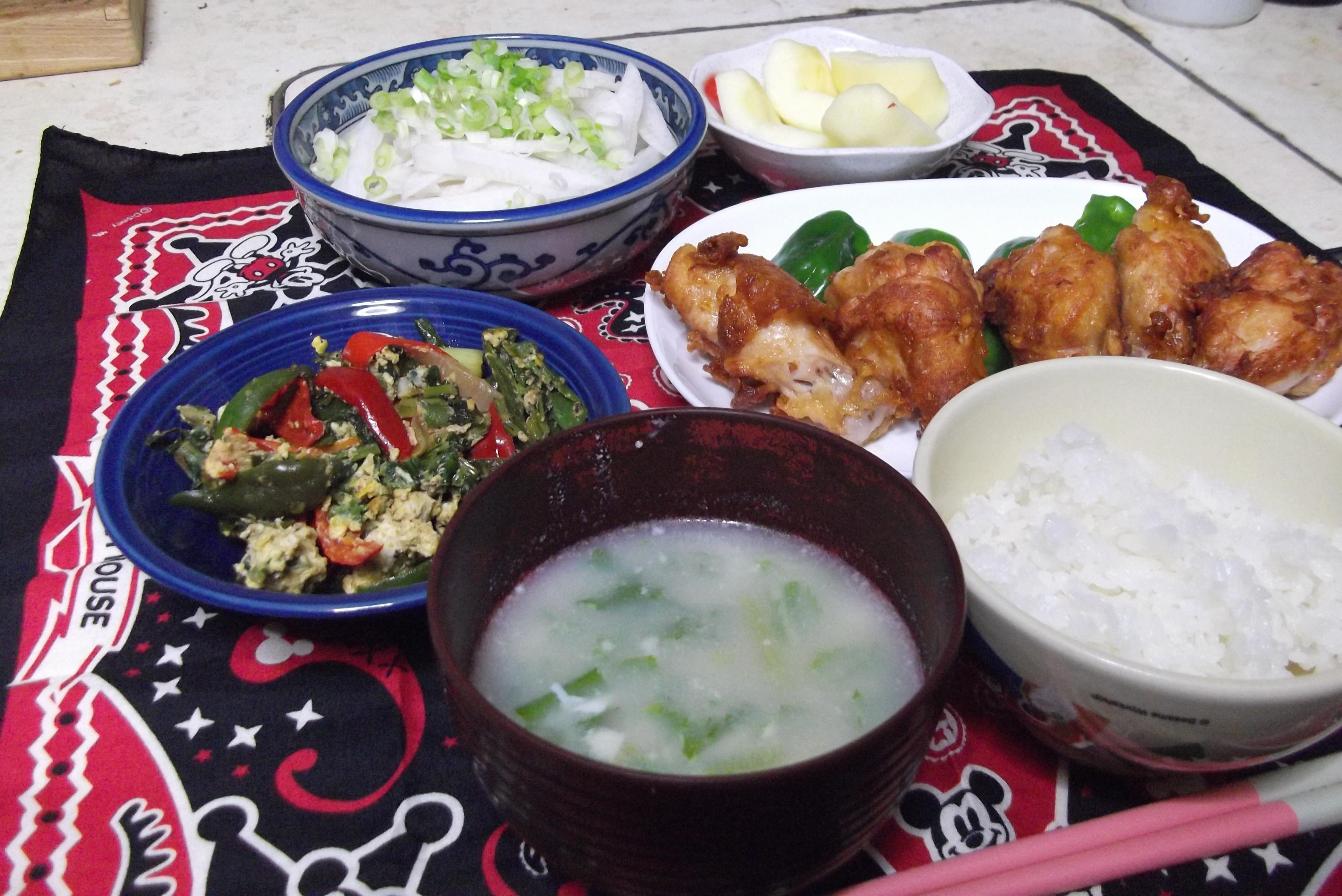 竹田普段の食事です。